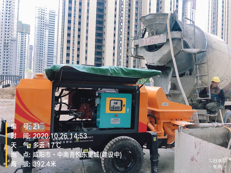 2021年1月,50泵--西安施工工况